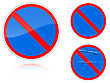 Set Of Variants A No Parking - Road Sign Group Of As Fish-eye Simple And Grunge Icons For Your Design