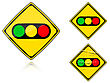 Set Of Variants A Traffic Lights - Road Sign Group Of As Fish-eye Simple And Grunge Icons For Your Design