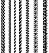 Set Of Variety Chain Silhouettes Isolated On White Background