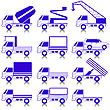 Set Of Vector Icons - Transportation Symbols. Cars, Vehicles. Car Body. stock illustration
