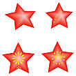 Set Vector Red Stars Jewelry For New Year