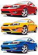 Set Of Vectorial Modern Sport Cars Every Car Is In Separate Layer No Blends And Gradients