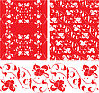 Set Of Vintage Ornate Seamless Patterns In Rococo Style stock vector