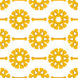 Set Of Yellow Bones Isolated On White Background. Seamless Bones For Dog Pattern