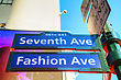 Seventh Avenue Sign In New York City stock image