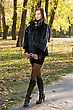 Sexy Young Woman Walking In Autumn Park