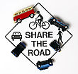 Share The Road, Concept Sign stock photography