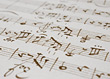 Paper Backgrounds Sheet Music Background stock photo