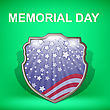 Shield Of America. Memorial Day Celebration Poster. Memorial Day American Flag. Memorial Day Shield Background
