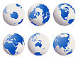 Shiny Earth Globes Set