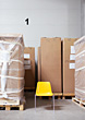 Freight Shipping Boxes stock photo