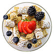 Shredded Wheat Cereal With Fruits And Berries stock photo