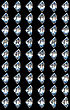 Side Views Of Diamonds With Different Lighting Settings And Reflections