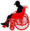 Disability Silhouette Of Disabled People On A White Background. Vector Illustration stock vector