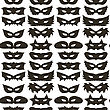 Silhouette Of Masks Seamless Pattern. Symbol Of Masquerade stock illustration