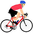 Exercise Silhouette Of A Cyclist Male. Vector Illustration stock illustration