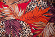 Silk Scarf Autumnal Motifs With Big Leaves stock illustration