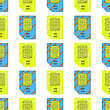 SIM Cards Seamless Pattern On White Background