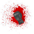 Single Boxing Glove On Blood Splatters Background