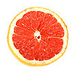 Single Cross Section Of Grapefruit Close-up Studio Photography