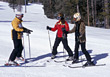 Skiing Ski School stock image