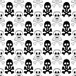 Roger Skull Cross Bones Seamless Pattern. Skull Isolated On White stock vector