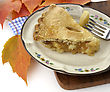 Slice Of Apple Pie On A Plate ,Close Up stock photography