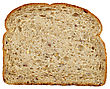 Porous Slice Of Healthy Fresh Bread On White Background stock photography