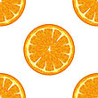 Sliced Orange Seamless Pattern. Exotic Ftuit Background