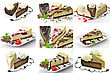 Slices Of Cheesecake stock photography
