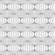 Slim Gray Hatched Uneven Grid.Seamless Stylish Geometric Background. Modern Abstract Pattern. Flat Monochrome Design