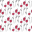 Small Abstract Rose Seamless Pattern. Vector Illustration. Can Be Used For Web, Paper, Wrap, Wallpaper, Textile And Other Design