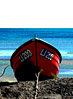 Small Boat On The Beach stock photography