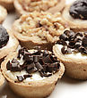 Small Round Cheesecakes ,Close Up stock photo