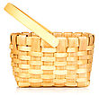 Small Wicker Basket Isolated On White Background stock image