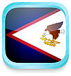 Smart Phone Button With American Samoa Flag