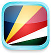 Smart Phone Button With Seychelles Flag