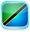 Smart Phone Button With Tanzania Flag