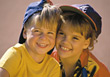 Smiling Young Boy & Girl stock image