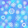 Snow Flake Background. Winter Decorative Ornamental Pattern
