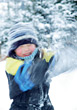 Snowball Fight stock photography