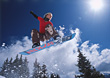 Snowboarding Snowboarder Jumping stock photography