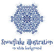 Snowflake Vector Icon Islolated On White Background