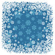 Snowflakes Frame Blue. Vector Background, EPS8