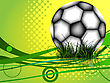Soccer Ball Background,  Image Contains Transparency And Gradient Mesh