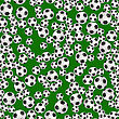 Soccer Ball Seamless Pattern On Green Background
