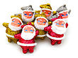 Some Dolls Of Santa Claus Are Together Isolated stock image