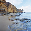 South Australian Cliff Beach stock photography