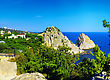South Part Of Crimea Peninsula, Beach Landscape. Ukraine stock photo
