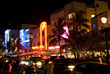 Southbeach at Night, Miami, FL USA stock image